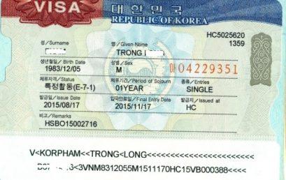 VISA E7 Hàn Quốc Là Gì ? Điều Kiện gì thì được cấp VISA E7